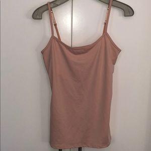New York & Company Light Pink Tank Top Size M